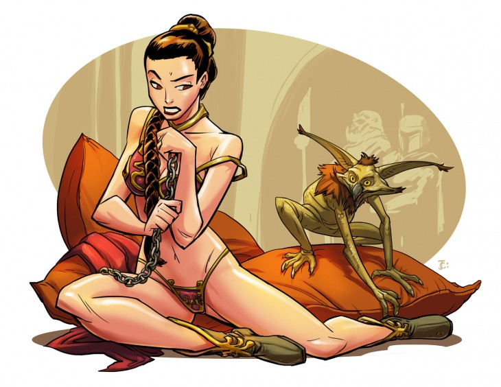 Las princesas Disney en versión Star Wars
