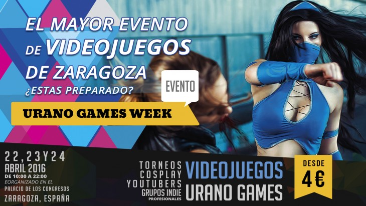 Elle, Illisia, Nunnally y Shady Abyss estarán presentes en la 'URANO GAMES WEEK 2016'
