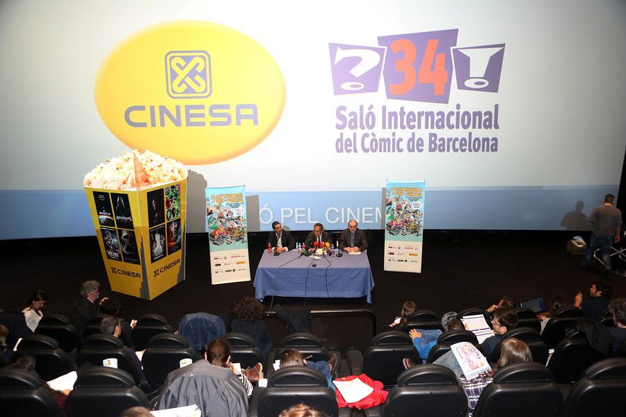 rueda de prensa 34 salón del cómic de Barcelona