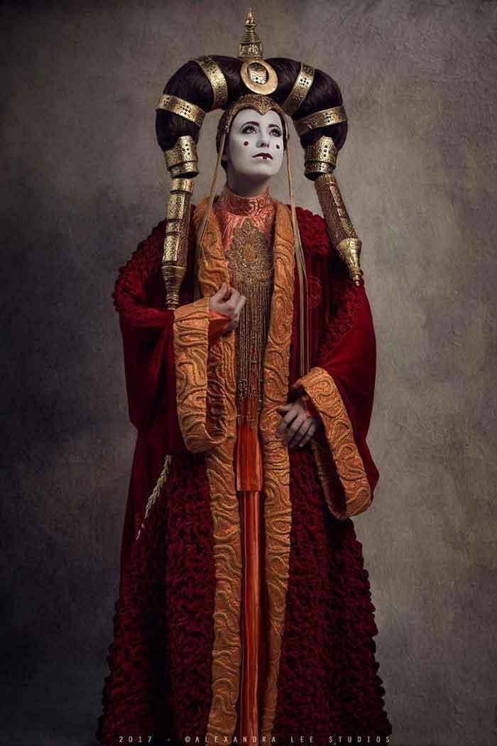 cosplay de Star Wars reina Amidala