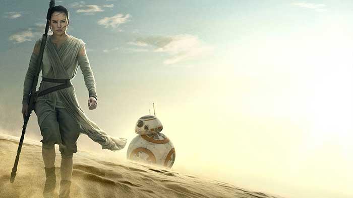 Cosplay de Star Wars: Fusión de Rey con Han Solo, Chewbacca y BB-8