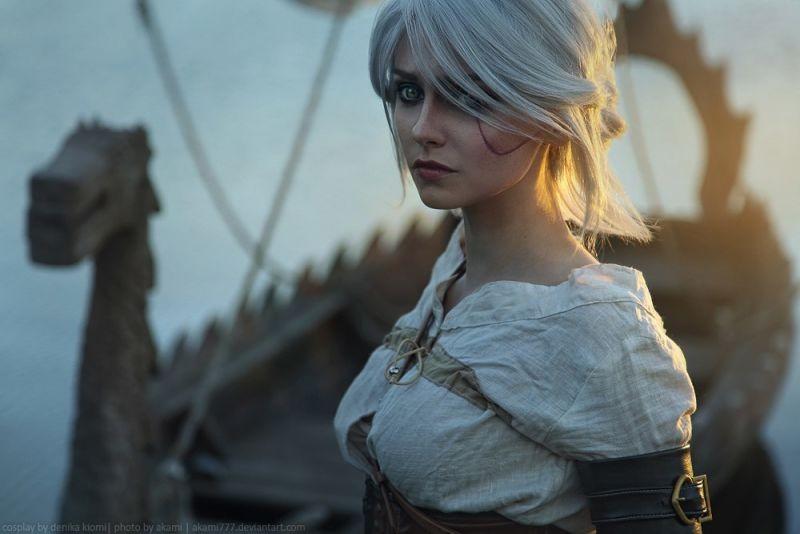 cosplay de Ciri de The Witcher 3
